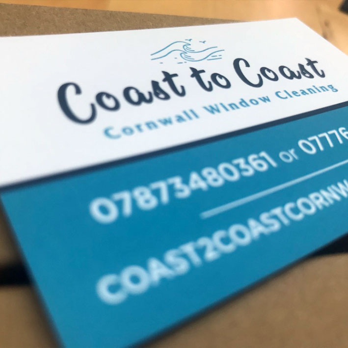 Coast to coast Cornwall business card printing