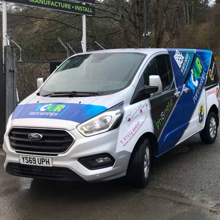 Your partnerships van wrap Cornwall and Devon