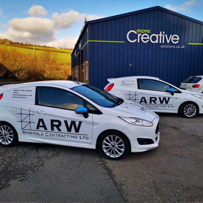 Fleet van graphics. Signwriting for ARW in Cornwall