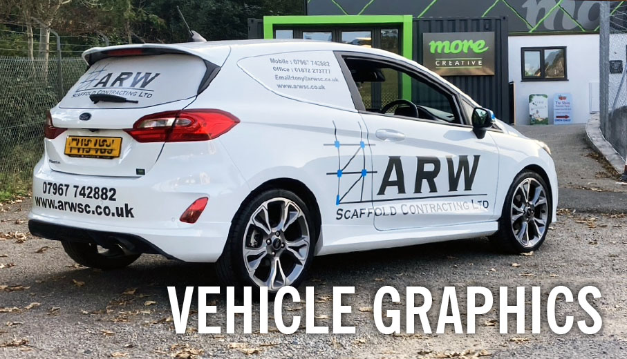 Vehicle graphics and branding in Cornwall