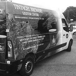 Tintagel Brewery signwritting van