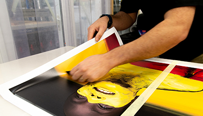 Application of printed vinyl graphics