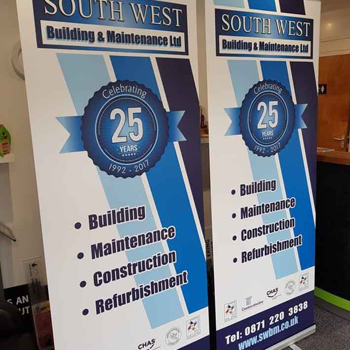 Printed roll up stands for vehicle rental company